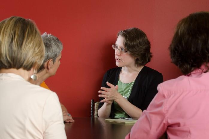 woman leading workshop
