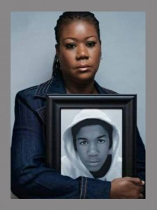 Mother Sybrina Fulton clutches the picture of Trayvon.