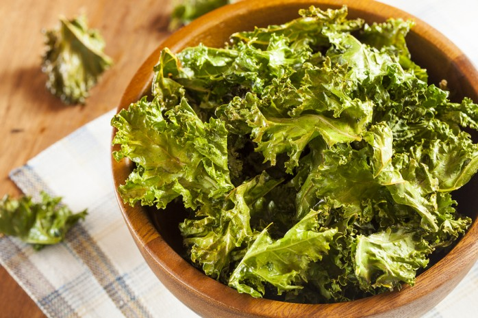 Home-made kale chips